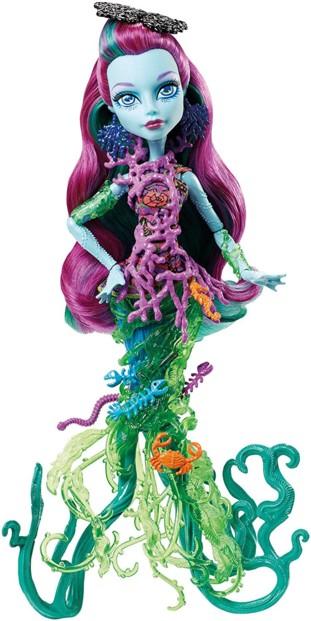 poupée monster high great scarrier reef posea reef fille poseidon