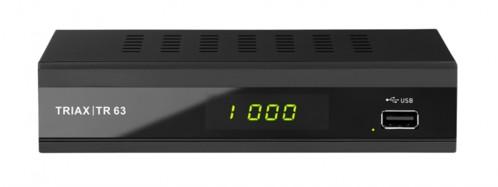 recepteur tnt 2 hd triax tr63 tr 63 pour full hd compression h265 port usb pour enregistrement