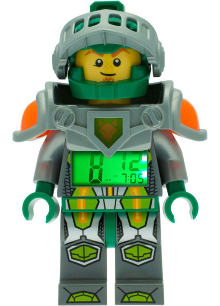 réveil digital pour enfants lego nexo knights chevalier aaron vert avec casque et armure