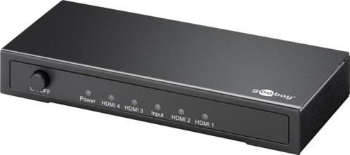 splitter vidéo hdmi 4 ports goobay compatible 4k et 3d blindé jusqu'à 15m