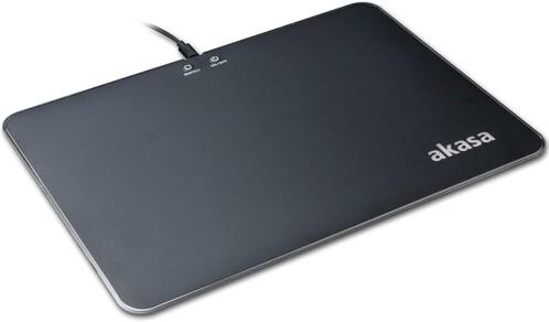 Tapis de souris lumineux LED RVB RGB réglable pour gaming akasa vegas x9