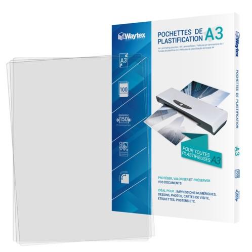 100 pochettes de plastification A3 -75 microns
