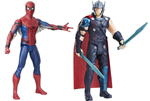 2 figurines parlantes Marvel : Thor et Spider-Man