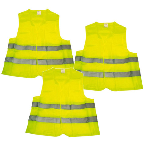 3 gilets de sécurité jaunes