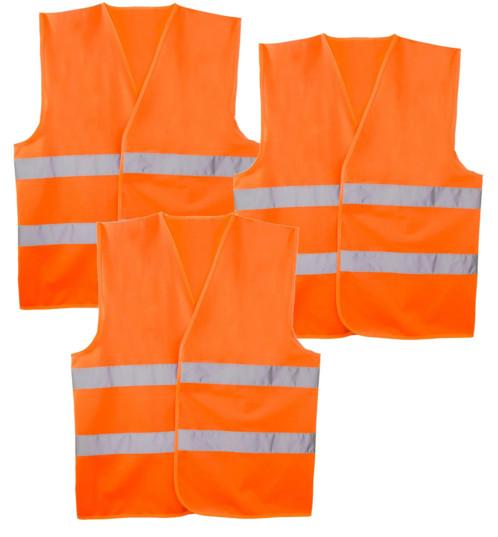 3 gilets de sécurité oranges