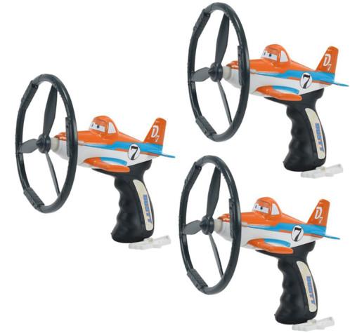 3 lanceurs d'hélice Disney Planes Dusty