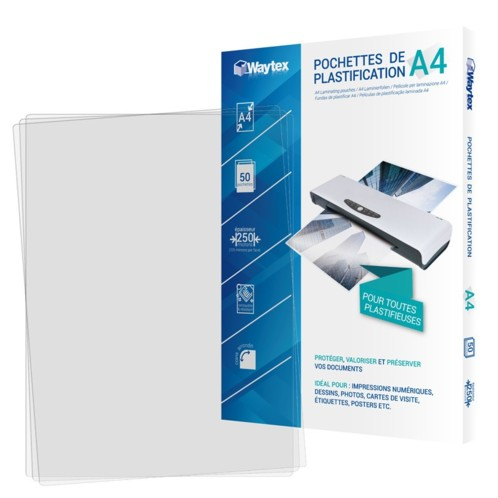 50 pochettes de plastification A4 -125 microns