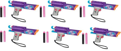 6 pistolets de poche pliables Nerf Rebelle