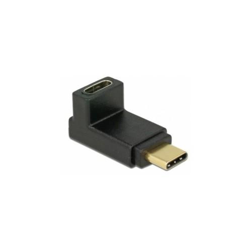 Adaptateur USB-C coude à 90° vers le bas par Delock.