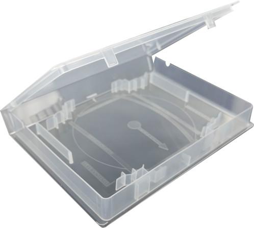 Boîte en plastique pour jeux rétro.