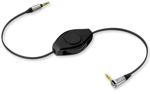 Câble audio jack-jack 3.5 mm rétractable Retrak Premium - 1,50 m