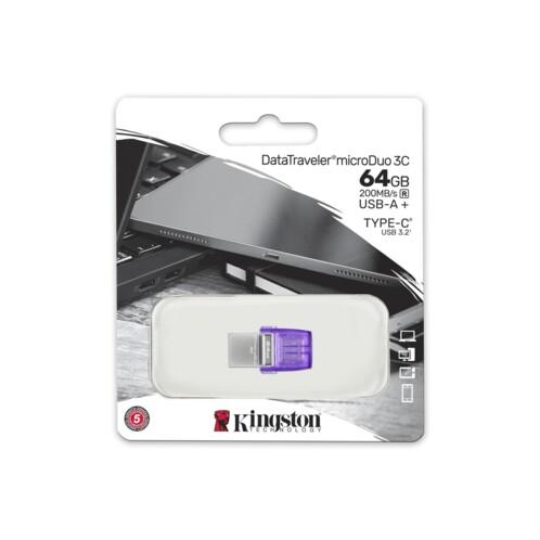 Clé USB DataTraveler microDuo 3C - 64 Go.