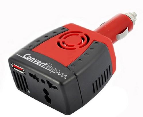 mini convertisseur 12v allume cigare vers prise secteur 230v pour utiliser appareil électrique dans la voiture