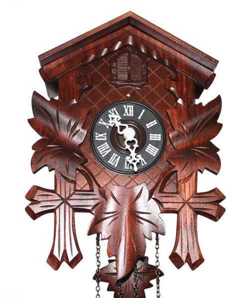 Coucou en bois avec horloge à quartz