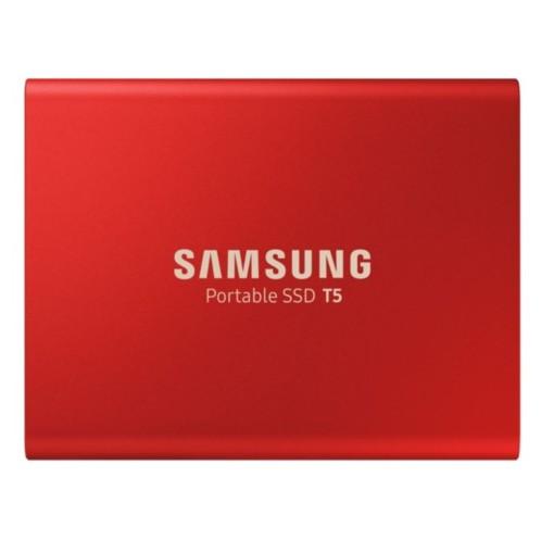 Disque SSD externe T5 rouge métal 500 Go