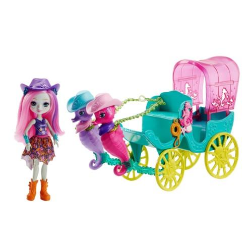 Enchantimals : La calèche des hippocampes de la marque Mattel.