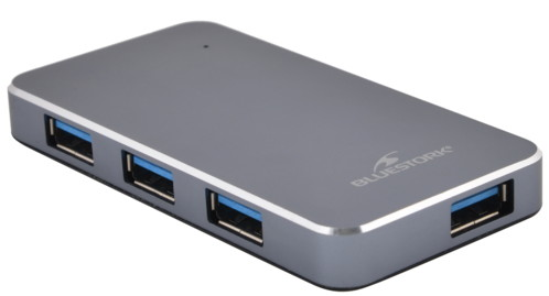 Hub 4 ports USB 3.0 extra fin en aluminium avec alimentation