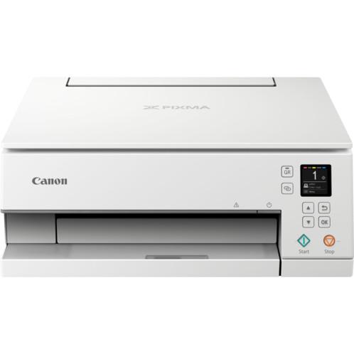 Imprimante jet d'encre Canon Pixma TS6351 blanche.