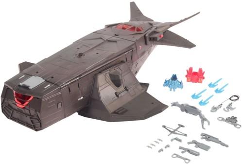 jouet dc comics justice league aeronef avion batman flying fox poste de commandement avec accessoires et tyrolienne