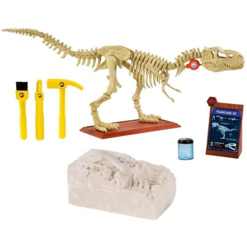 Kit de paléontologie Jurassic World T-Rex par Mattel.