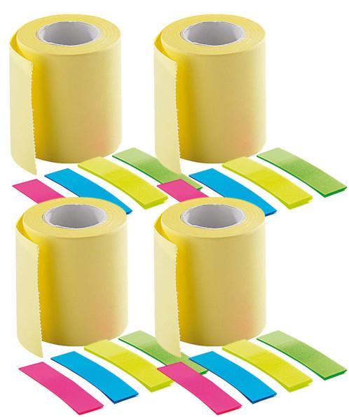 4 kits de recharge pour distributeur de mémos