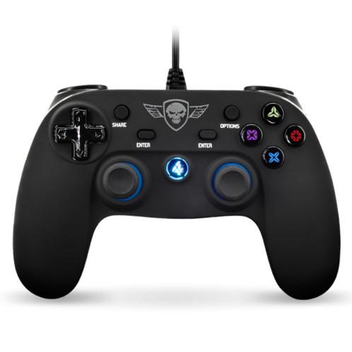 manette USB filaire pour PS4 playstation 4 sog spirit of gamer avec LED et bumper analogique