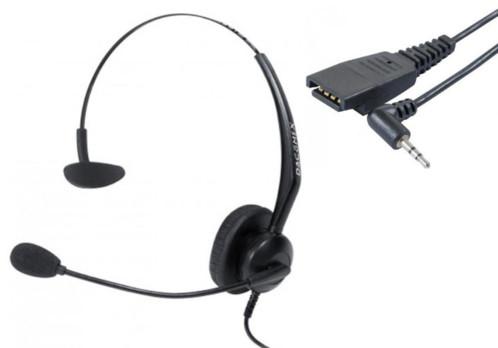 Micro-casque Mono RJ9 avec adaptateur QD-Jack par Dacomex.