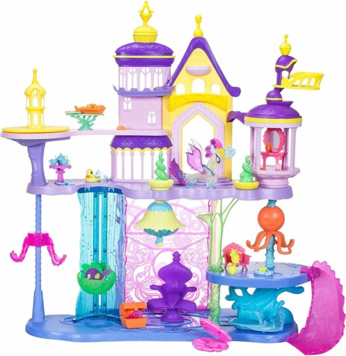 jouet my little pony le film grand chateau de canterlot avec figurine aquastria