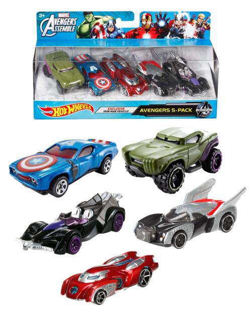 Pack de 5 voiturettes inspiration Marvel Avengers