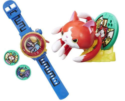 Pack montre parlante Yo-Kai Watch Modèle Zéro + Figurine support Jibanyan
