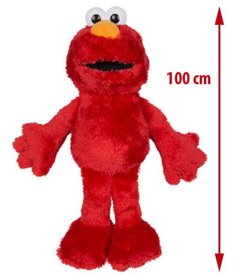 Peluche XXL Elmo de Sesame Street.