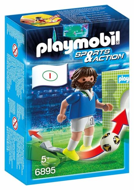 jouet playmobil foot sports & action joueur de foot italien