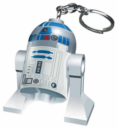 mini porte clé star wars lego r2d2 avec lampe de poche led integree collector