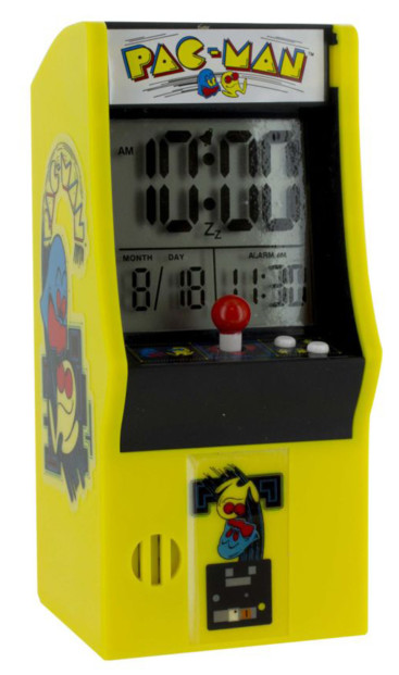 reveil digital geek retrogaming forme borne arcade pac man paladone