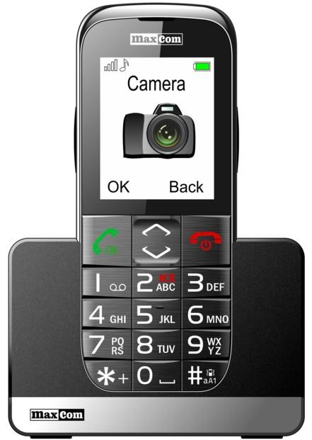 mini telephone mobile senior grandes touches avec fonction sos et bluetooth maxcom mm721
