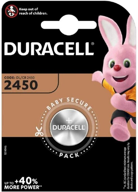 Duracell pile bouton CR2450