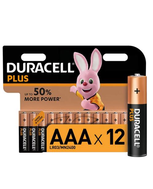 12 piles AAA (LR3) Plus