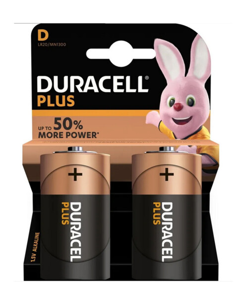 Duracell piles LR20 type D - Lot de 2