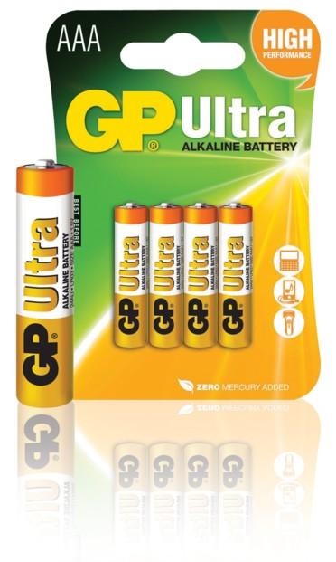 Piles alcalines AAA GP Ultra - x4
