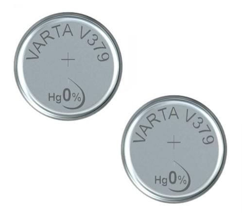 Lot de 2 piles bouton Varta V379 (SR63).
