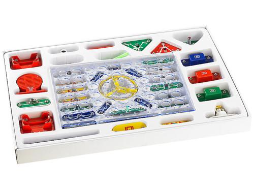 Kit de construction électronique 33 pièces avec technologie à bouton-poussoir