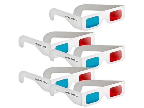Lot de 5 Paires de lunettes 3D rouge/cyan