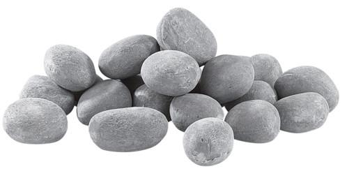 Pierres décoratives grises pour cheminée au bioéthanol - Gris