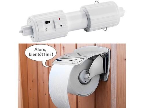Support parlant pour papier toilette