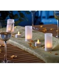 6 Bougies design 'chauffe-plat' à LED avec photophores