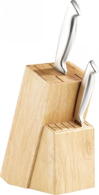 Bloc couteaux en bois 11 emplacements lame 22cm max - Bloc en bois pour couteau ...