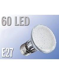 Lampe réflecteur Par38 60 LED E27 blanc chaud