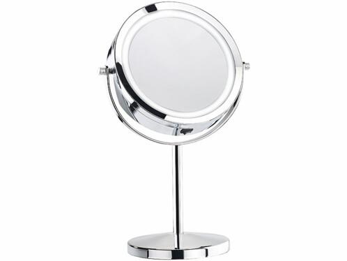 Miroir grossissant lumineux LED - À pied