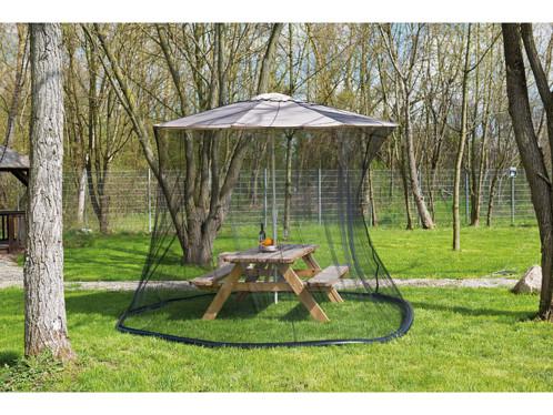 Moustiquaire cylindrique pour parasol en maille 220 - 330 x 250 cm