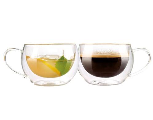 Pack de 2 tasses double paroi - Café long ou Thé